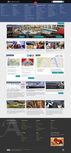 Redesigned homepage - full menu September 2013
