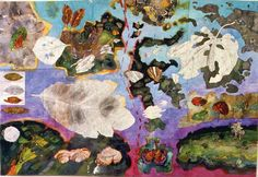 John Wolseley Tracing the Wallace Line; wing leaf and land, 1999 watercolour on paper 136 × Contemporary Australian Artists, Australian Painting, Contemporary Art, Landscape Art, Landscape Paintings, Landscapes, Painting Lessons, Sculpture, Environmental Art