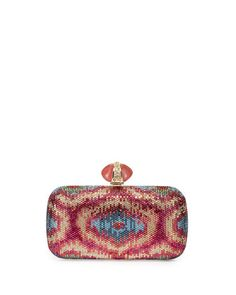 New Soap Dish Crystal Minaudière Clutch Bag, Multi by Judith Leiber Couture.
