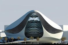 Located in Dubai, UAE. The Museum of Middle Eastern Modern Art (MOMEMA) is a beautiful futuristic architecture that was designed by UNStudio Architecture Design, Futuristic Architecture, Amazing Architecture, Contemporary Architecture, Chinese Architecture, Futuristic Design, Unusual Buildings, Amazing Buildings, Modern Buildings