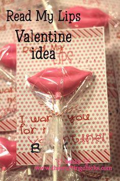Read My LIps Valentine idea