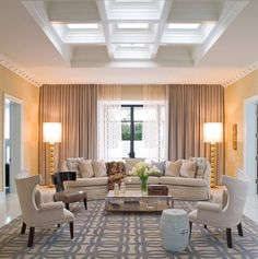 Sophisticated and modern twist to the Hollywood Regency style