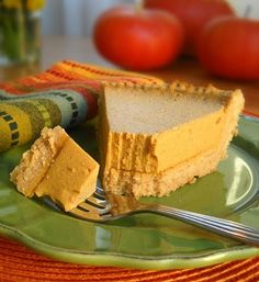 Egg-free, Gluten-free, Dairy-free No Bake Pumpkin Pie