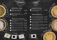 Cafe Menu by Tatiana Koidanov, via Behance Pizza Menu Design, Cafe Menu Design, Menu Card Design, Food Menu Design, Restaurant Menu Design, The Menu, Cafe Menu Boards, Cafeteria Menu, Thai Food Menu