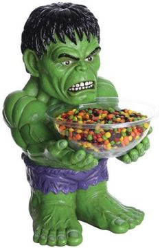 This Halloween Decoration Prop Hulk Candy Bowl Holder is AWESOME!