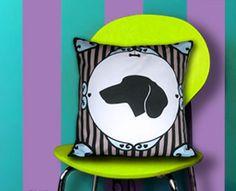 """Dog Silhouette Pillow - Dachshund 15"""" x 15"""" $37.00"""