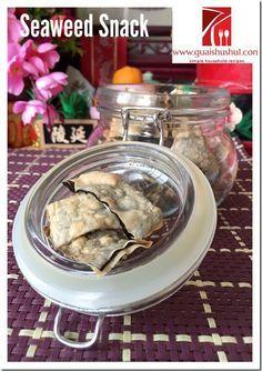Crispy Seaweed Crackers (酥炸紫菜饼) #guaishushu   #Kenneth_goh #seaweed