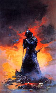 SPACESHIP ROCKET, Frank Frazetta - The Death Dealer