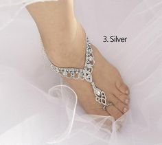 Wedding Barefoot Sandals Bridal Foot Jewelry Gold or by Kimsically