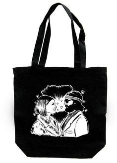 Margot and Richie Tenenbaum - Tote Bag. $8,00, via Etsy.