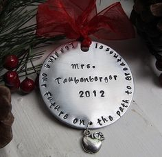 Teacher Christmas Ornament Personalized by XpressiveMpressions, $22.00