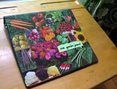 Garden Journal with recycled seed catalogs