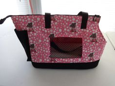 Pink and white Yorkie Large Dog Carrier by PoochandFelinePalace