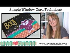 ▶ Simple Window Card Technique with Stampin' UP! Howl O Ween Treat - YouTube