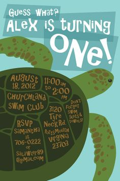 Birthday Invitation .. Underwater Themed Birthday by SALawler, $40.00