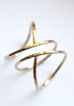 Hammered Siren Ring.