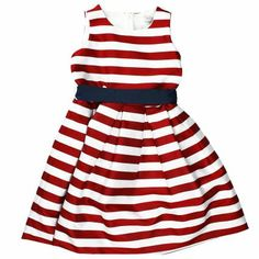 Red striped dress for little girl!  @monnalisaspa #fashion #colorful
