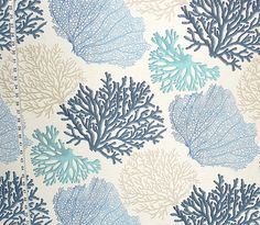 Ali's Gossip Bench Redo Blue coral fabric aqua ocean from Brick House Fabric: Novelty Fabric