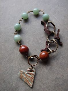 Love how the colors in the heart determine the beads used in this Bracelet (RM)