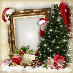 hrit's Christmas Frames - 2013 - Santa is coming Hrit christmas Christmas Picture Frames, Christmas Background, Christmas Pictures, Winter Christmas, Christmas Wreaths, Merry Christmas, Xmas, Christmas Ornaments, 1st Birthday Pictures