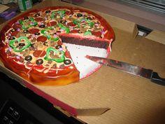 pizza cake... I had a cake like this, grandmother made!!