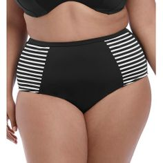 444fd8d129d29 Elomi ES7635 Malibu Days High Waist Brief Swim Bottom (Black 3X) Swim  Bottoms