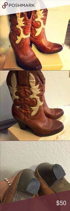 Mid calf cowgirl booties size 8 2017 closet clean out!!!! Price just lowered :)   ADORABLE! Mid calf cowgirl boots by Mia girl. Man made & only worn a couple times. In great condition!!!   Size 8 Shoes Ankle Boots & Booties