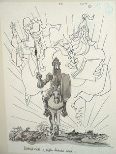 'El Quijote'  Lámina de 'El Quijote', ilustrada por Antonio Machado y expuesta en Sevilla en 2005