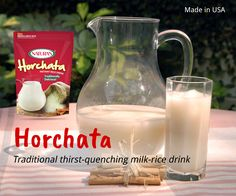 Aguas Frescas- Traditional thirst-quenching milk-rice drink. Horchata