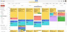 weekly google calendar