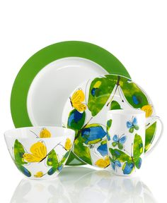 Vera Dinnerware, Papillion Dream Collection - Casual Dinnerware - Dining & Entertaining - Macy's