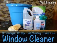 No Squeegee, No Wipe, Self Sheeting, Streak Free Window Cleaner - You will love me. And you will see out your windows. (And your KIDS can do this and they will probably think it's fun.)  #windows #cleaning