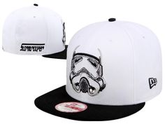 Mens Star Wars x New Era Imperial Stormtroopers Embroidered Graphic Snapback Adjustable Cap - White / Black Star Wars Store, Mlb Baseball Caps, Animal Print Outfits, Keep Warm, Knit Beanie, Bicycle Helmet, Snapback, 3d, Black