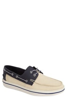 Men's Tommy Bahama 'Relaxology Collection - Rester' Canvas Boat Shoe