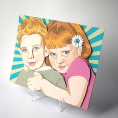 Custom Portrait  3D Paper Art based on your Photos  by RisaRocksIt, $100.00