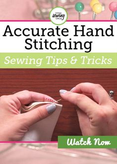 Fantastic Screen hand sewing for beginners Strategies Learn a fun new hand stitching tip that makes accurately spacing your hand stitches quick and easy Crazy Quilting, Hand Quilting, Hand Sewing Projects, Sewing Projects For Beginners, Sewing Crafts, Sewing By Hand, Sewing Stitches By Hand, Techniques Couture, Sewing Techniques