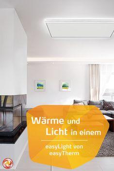 Wärme und Licht in einem mit easyLight - Lichtrahmen für Ihre Infrarotheizungen. Der easyLight Lichtrahmen umgibt das Infrarotpaneel perfekt und sorgt für stimmungsvolle Beleuchtung mit einem äußerst angenehmes Licht. Easy, Modern, Home Decor, Frame, Lighting, Homemade Home Decor, Trendy Tree, Interior Design, Home Interiors