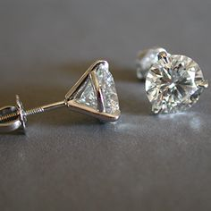 4mm Round Cubic Zirconia Sterling Silver Martini Set Stud Earrings Martinis And
