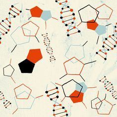 DNA Pattern RETRO SCIENCE – Art Licensing Collection by Nate Williams