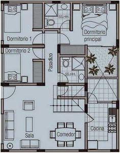 Como Crear Planos De Casas En 120 Metros Cuadrados De Una Planta | Planos de casas