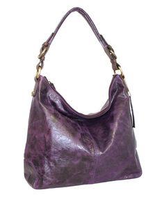 Loving this Violet Havana Nights Leather Hobo on #zulily! #zulilyfinds