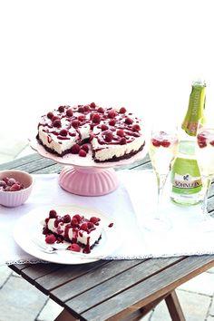 Himbeer-Mascarpone-Torte mit Schoko-Crunch-Boden
