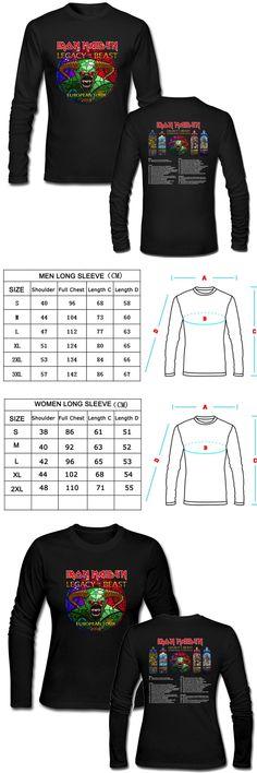 Valentine's Day T-Shirts Iron Maiden 2018 Rock Tour Concerts Tshirts Men Women Top Tee T-Shirts Custom Plus Size Punk Rock Tees