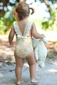 Aww, most adorable bathing suit ever.