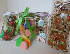 Christmas Mini Cookie Jars, by Flour De Lis
