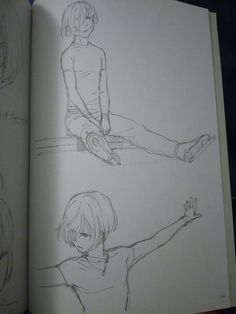 First sketches of Yurio by Hiramatsu 平松禎史 SketchBook