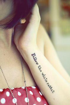 Follow the white rabbit Tattoo