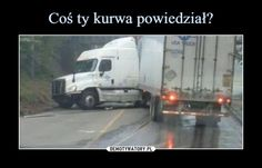 Dumb truck driver didn't want to hit the low bridge so he tried to make a U-Turn in a small street and fails miserably. He wrecked the good truck. Funny Fails, Funny Memes, Driving Humor, Why Are You Laughing, Polish Memes, U Turn, Everything And Nothing, Fail Video, Cool Trucks