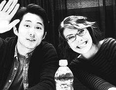 steven yeun and lauren cohan - Google Search