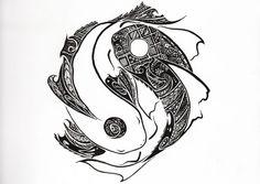 Yin Yang Tribal Tattoo - http://amazingtattoogallery.com/yin-yang-tribal-tattoo/ #tattooart #tattoo #artdesign